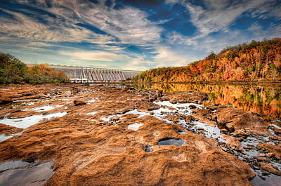 Hartwell Photograph - Hartwell Dam by Brent Craft
