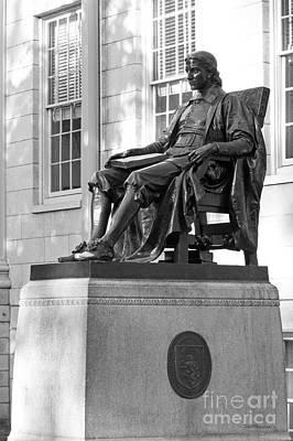 John Harvard Statue At Harvard University Print by University Icons