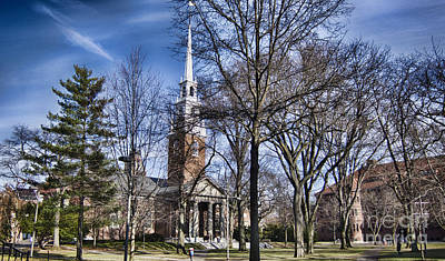 Dormitories Photograph - Harvard University Old Yard Church by Douglas Barnard