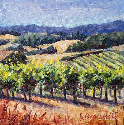 Napa Vineyard Painting - Harvest Hills by Jennifer Beaudet
