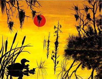 Artist Richard Brooks Painting - Harvest Moon by Richard Brooks