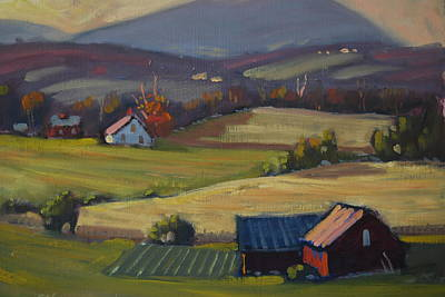 Berkshire Hills Living Painting - Harvest Patterns by Len Stomski