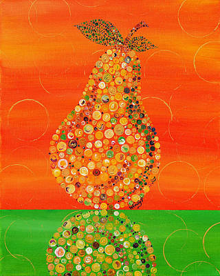 Fruit Stand Painting - Harvest Pear by Wendy Provins