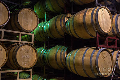 Harvest Resting Wine Barrels Print by Iris Richardson