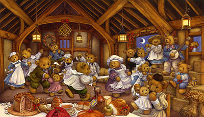 Bales Painting - Harvest Supper by Carol Lawson