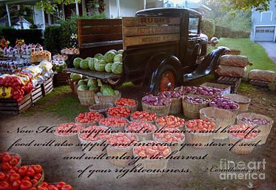 Bible Verse Photograph - Harvest Verse by Tom Brickhouse