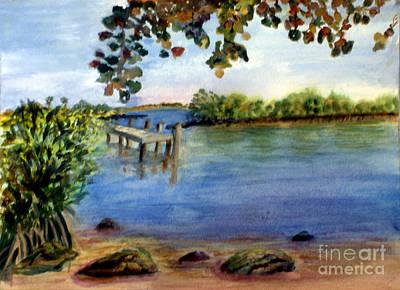 Plein Air Painting - Harvey E Oyer Park In Boynton Beach by Donna Walsh