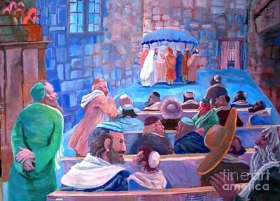 Hasidic Wedding Original by Shirl Solomon