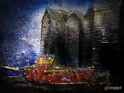 Shed Mixed Media - Hastings Net Shops by Chris Knights