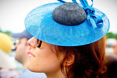 Hat From The Side At Churchill Downs  Print by John McGraw