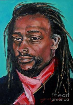 Hat Man - Portrait Print by Grace Liberator