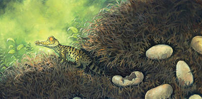 Crocodile Painting - Hatching Day by Jaimie Whitbread