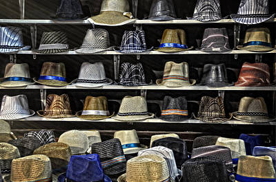 Hats For Sale Print by Ken Smith