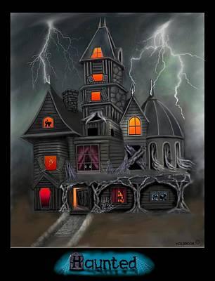 Haunted Mansion Digital Art - Haunted by Glenn Holbrook