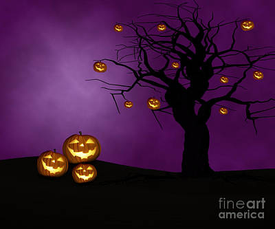 Jack-o-lantern Photograph - Haunted Halloween by Juli Scalzi