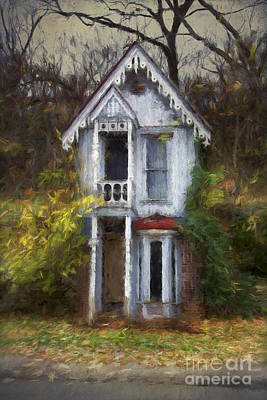 Arkansas Digital Art - Haunted House by Elena Nosyreva