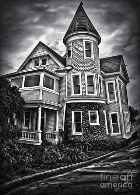 Haunted House Print by Gregory Dyer