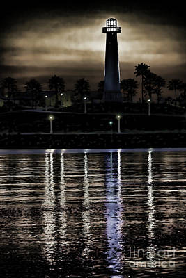 Haunted Lighthouse Print by Mariola Bitner