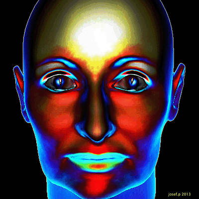 Artwork Digital Art - Haunted Portrait Of Mary Moving Eyes by Sir Josef Social Critic - ART