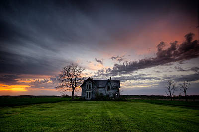 Haunted Sunset Print by Cale Best