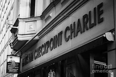 haus am checkpoint charlie museum Berlin Germany Print by Joe Fox