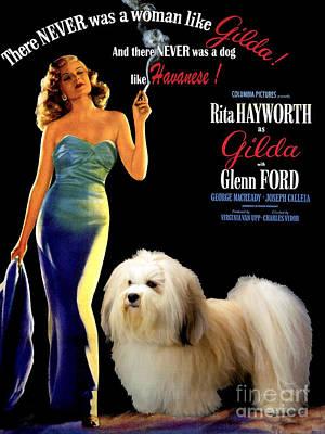 Havanese Painting - Havanese Art - Gilda Movie Poster by Sandra Sij