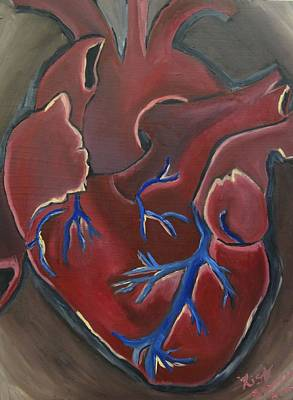 Red Painting - Have A Heart by Lisa Brandel