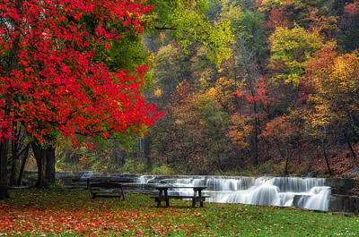 Fall Of River Photograph - Have A Seat by Mark Papke