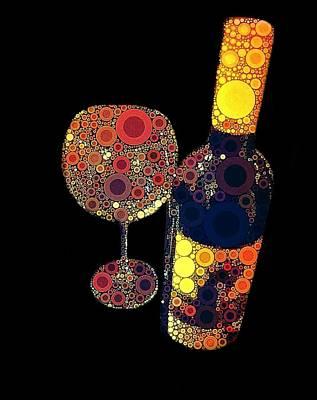 Grape Vines Digital Art - Have Some Wine by Cindy Edwards