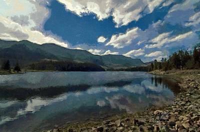 Windy Digital Art - Haviland Lake by Jeff Kolker