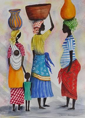 Having A Chat Original by Glenda Bosanquet