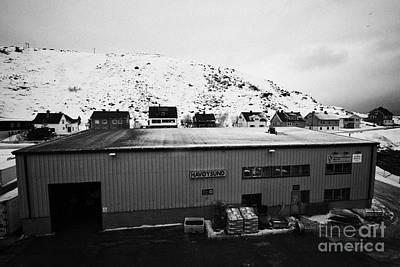 Havoysund Hurtigruten Pier Warehouse Finnmark Norway Europe Print by Joe Fox