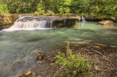 Haw Creek Falls Basin - Ozarks - Arkansas Print by Jason Politte