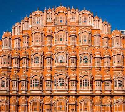 Rajasthan Photograph - Hawa Mahal Moon by Inge Johnsson