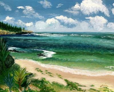 Frier Painting - Hawaii Beach by Jamie Frier