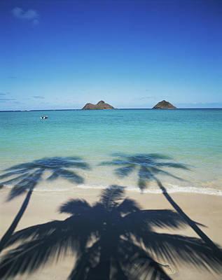 Hawaii Islands, Oahu, View Of Lanikai Print by Douglas Peebles