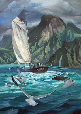 Hawaii Sailing Original by Stanislav Atanasov