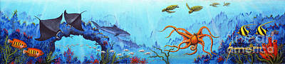 Scuba Painting - Hawaii Sea Life by Jerome Stumphauzer