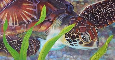Hawaii Sea Turtle Painting - Hawaii Sea Turtle by Golanv  Waya