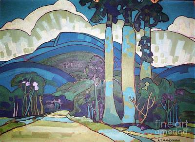 U.s.pd Painting - Hawaiian Landscape by Pg Reproductions