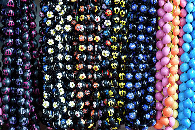 Necklace Photograph - Hawaiian Lei Or Necklaces Display by Daisy Gilardini