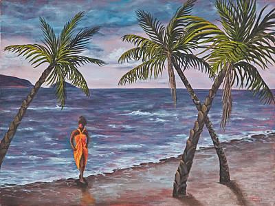 Pele Painting - Hawaiian Maiden by Darice Machel McGuire