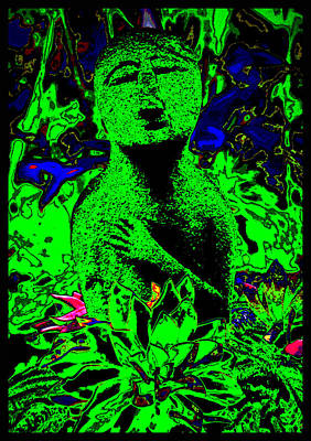 Gaia Digital Art - Hawaiian Prayer For The Earth by Susanne Still