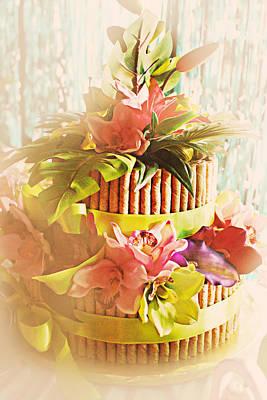 Hawaiian Wedding Cake Print by Susan Bordelon