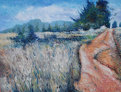 Painting - Hawequa Mountains Diemersfontein Cape Town South Africa by Enver Larney