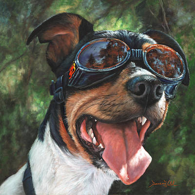 Goggles Painting - Hawg Dawg by Donna  Hillman Walsh