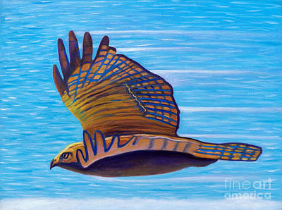 Red Tail Hawk Painting - Hawk Speed by Brian  Commerford