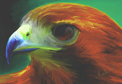 E 20 Painting - Hawk Spirit by Armin Sabanovic