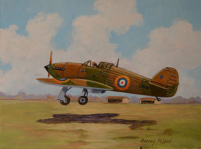 Painting - Hawker Hurricane by Murray McLeod