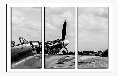 Tryptych Photograph - Hawker Hurricane Tryptych by Chris Thaxter